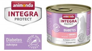 Animonda Integra Protect Diabetes Cukrzyca krewetki 200g